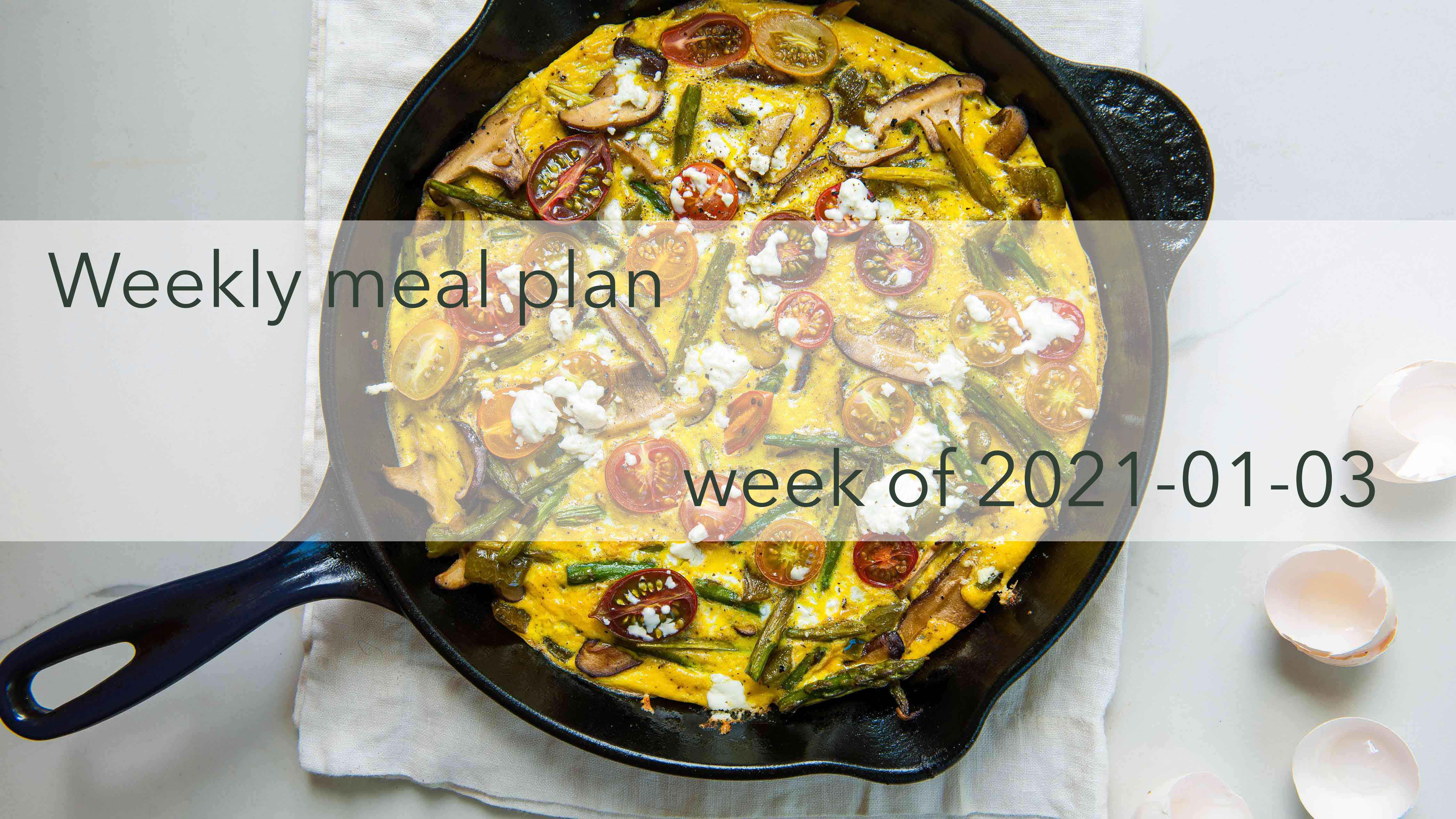 Weekly Meal Plan 2021-01-03 Photo