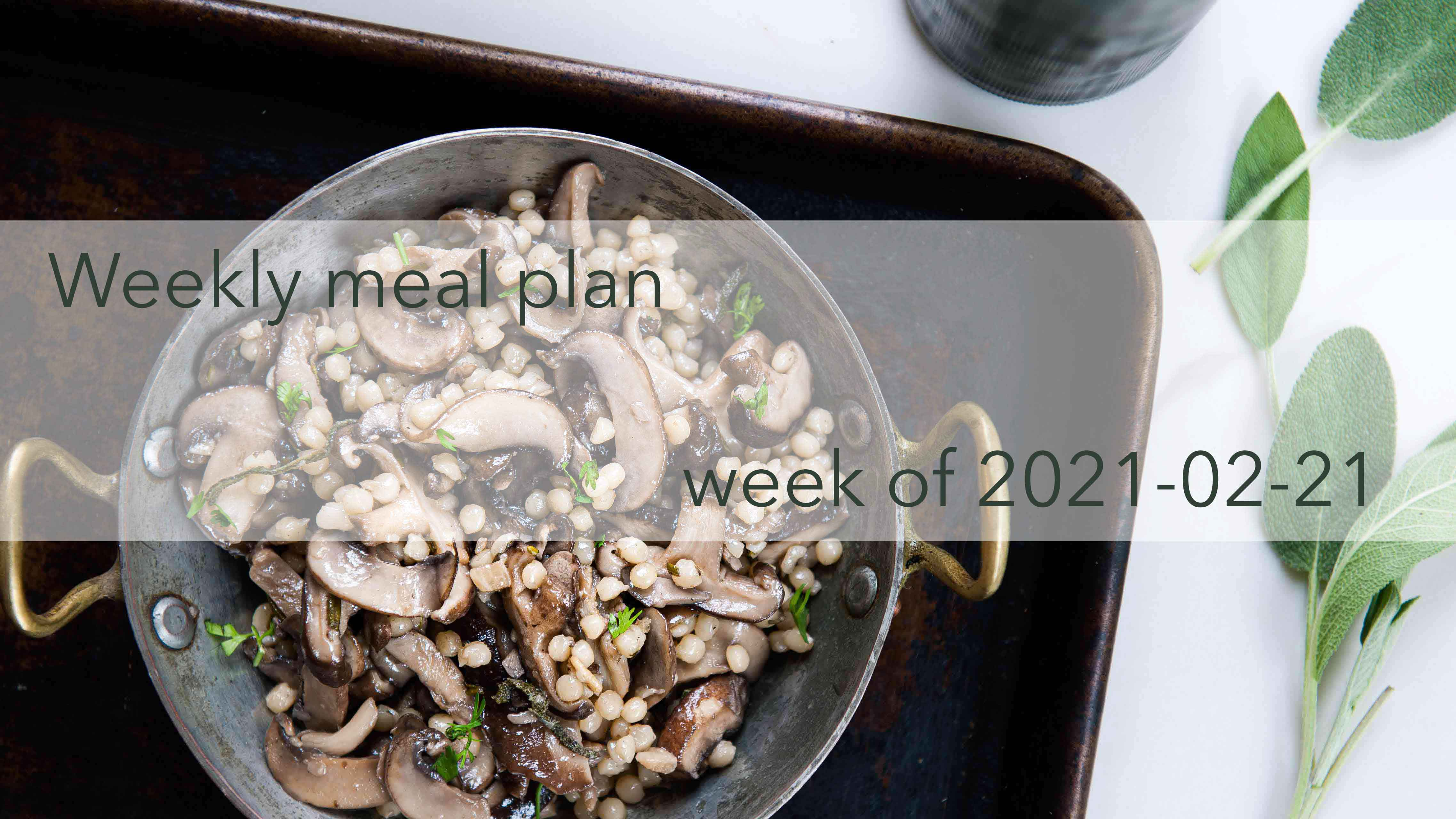 Weekly Meal Plan 2021-02-21 Cover Photo