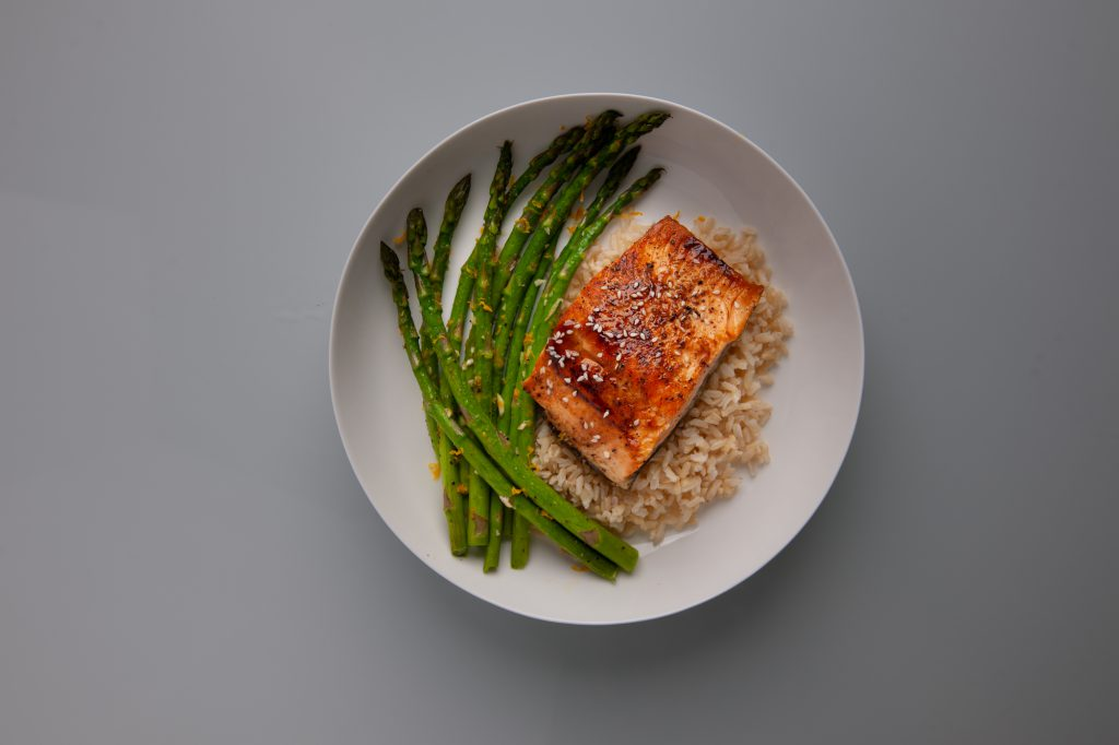 Image of Salmon with Baked Asparagus